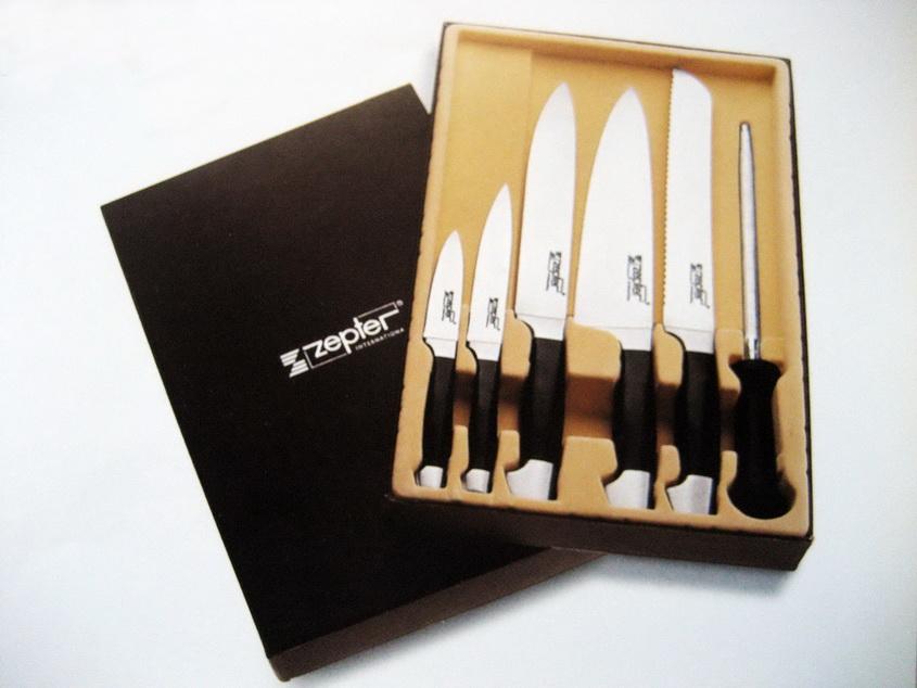набор ножей цептер из 5 предметов с пластиковыми ручками