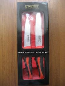 набор ножей цептер (из двух ножей с красными ручками)