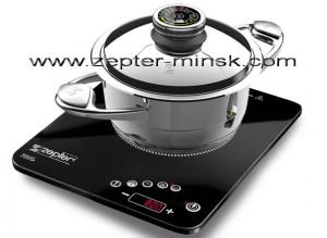индукционная плита Цептер -стильный дизайн, небольшие размеры, 300 евро по курсу нацбанка
