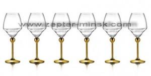 Бокалы для белого вина с позолоченными ножками Мэджик Хармони от компании Цептер в Минске на www.zepter-minsk.com