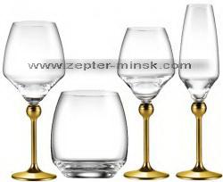 четыре вида бокалов для напитков в коллекции Мэджик Хармони от Цептер в Минске
