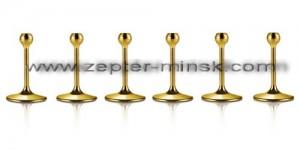 металлические ножки,декорированные золотом, к бокалам Мэджик Хармони от Цептер в Минске, 6 штук, 420 евро