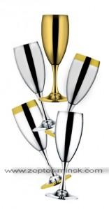 наборы бокалов для шампанского Ла Перле от Цептер в Минске
